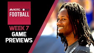 Fantasy Football NFL Week 7 Game Previews | Rotoworld Football Podcast