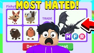 Trading The MOST HATED Pets In Adopt Me! (GETTING DREAM PET)