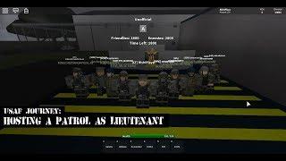 Viaggio USAF Roblox: ospitare una pattuglia come tenente! #RishiPlaysJourney