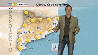 Predicció per a dijous 12-11-2015: temps anticiclònic.