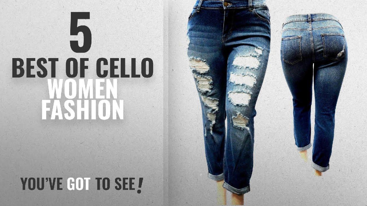 8456f925b0b Cello Women Fashion  2018 Best Sellers   V-OK Womens Plus Size Sexy  Boyfriend Denim Jeans Ripped