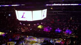 Lakers Staples Center Starting Lineup Intro 11-7-10