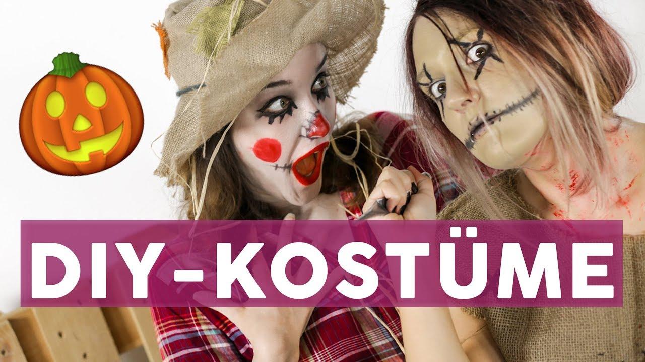 15 Gruselige Last Minute Halloween Kostume Diy Youtube