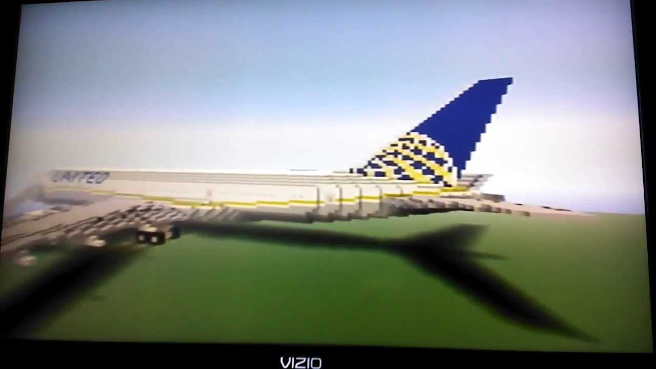 Minecraft Boeing 787 8 Dreamliner United Airlines Youtube