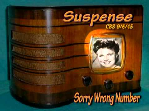 "Suspense ""Sorry Wrong Number "" Agnes Moorehead CBS 9/6/45  Radio Mystery Drama"