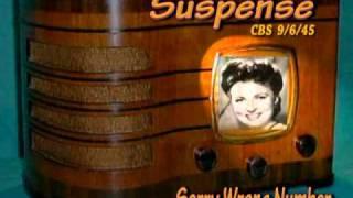 "Suspense ""Sorry Wrong Number "" Agnes Moorehead CBS 9/6/45  Radio Mystery Drama"