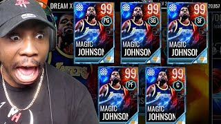 MAGIC JOHNSON PLAYING EVERY POSITION & NEW DREAM MASTERS! NBA Live Mobile 18 Gameplay Ep. 52