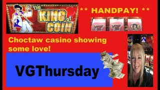 ** HANDPAY ** Choctaw casino-Durant ** $5 King of Coin **