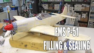 Refinish a Foam Warbird Ep2 - FMS P-51 Filling & Sealing for Paint