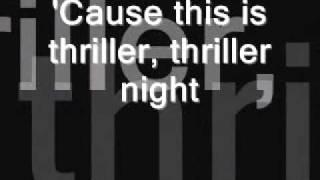 thriller michael jackson letra original