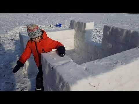 Строим дом из снега. Часть 1