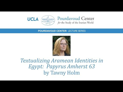 Thumbnail of Textualizing Aramean Identities in Egypt: Papyrus Amherst 63 video