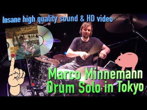 Marco Minnemann Amazing 2014 Tokyo Drum Solo In FULL HD At 60fps With The Aristocrats