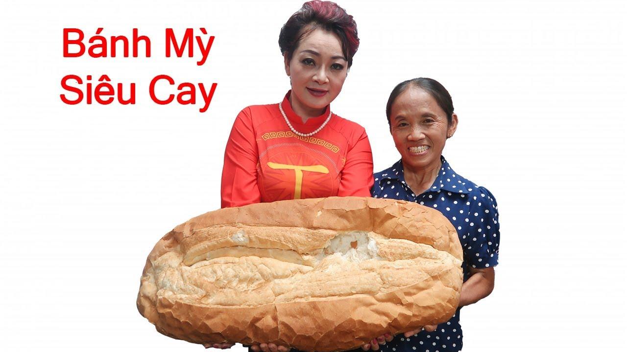 Bà Tân Vlog - Làm Chiếc Bánh Mỳ Siêu Cay Khổng Lồ Trên Trường Quay VTV