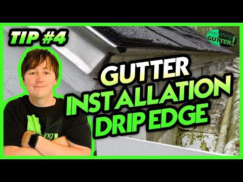 """Gutter Installation tip """"Drip Edge""""#4"""