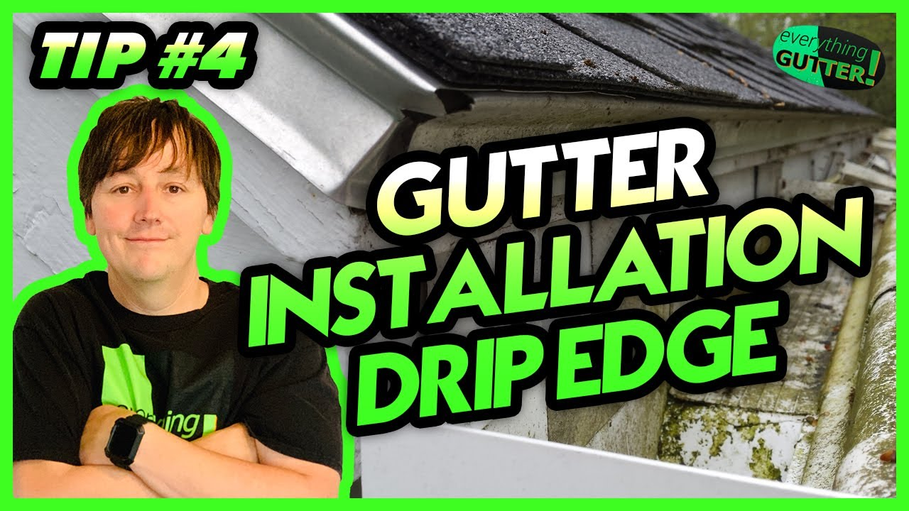 Gutter Installation Tip Quot Drip Edge Quot 4 Youtube