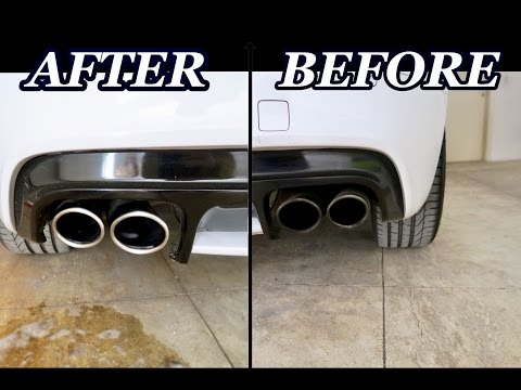 How To Clean Exhaust Tips in 30 Seconds With Cheap Household Cleaners!!