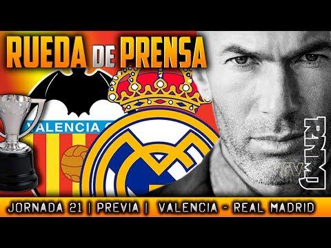 Valencia CF - Real Madrid Rueda de prensa de Zidane (26/01/2018) | PREVIA LIGA JORNADA 21