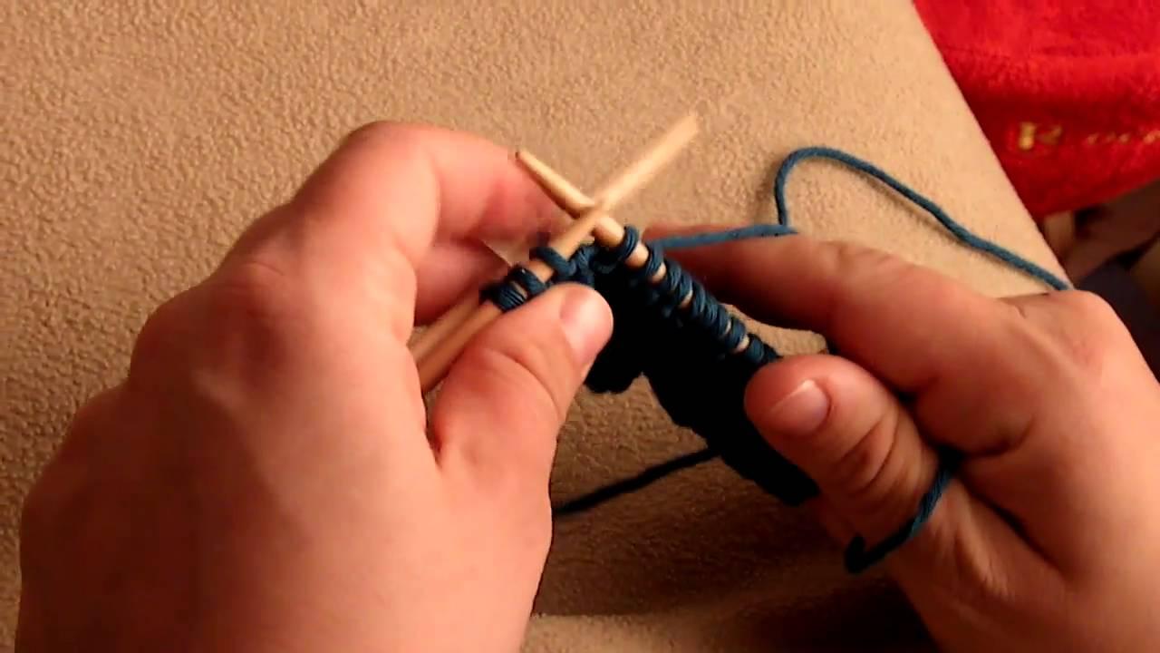 tricoter 2 mailles croisees a droite