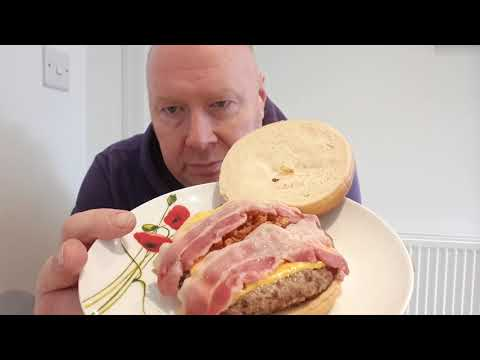 Food Review. Rustlers Flamed Grilled BBQ Burger.