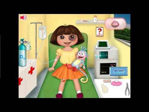 NEW Мультик Онлайн для девочек—Даша путешественница первая помощь—Игры для детей