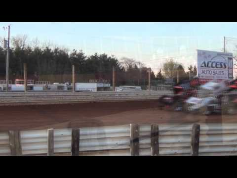 Lincoln Speedway 410 and 358 Sprint Car Highlights 4-16-16