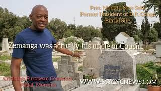 Yombo visits Pres. Mobutu Sese Seko's grave site in Rabat, Morocco.