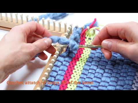 Weaving on a Knitting Loom