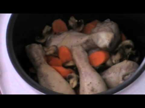 Голени, тушеные с грибами в мультиварке KITFORT KT-201