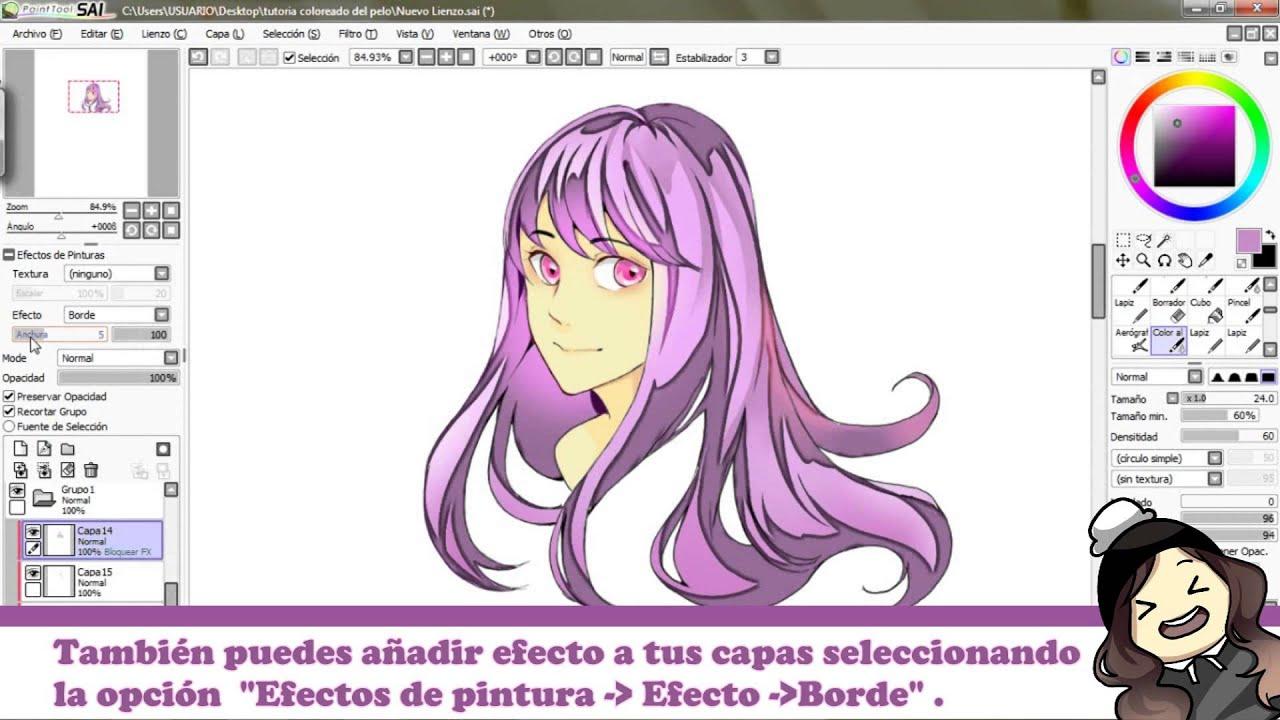 tutorial -pelo al estilo manga anime-hair