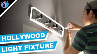 how to remove bathroom Hollywood vanity light fixture | Quick & Easy