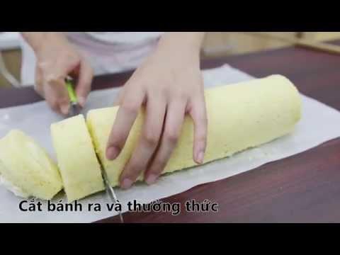 Cách làm bánh bông lan cuộn