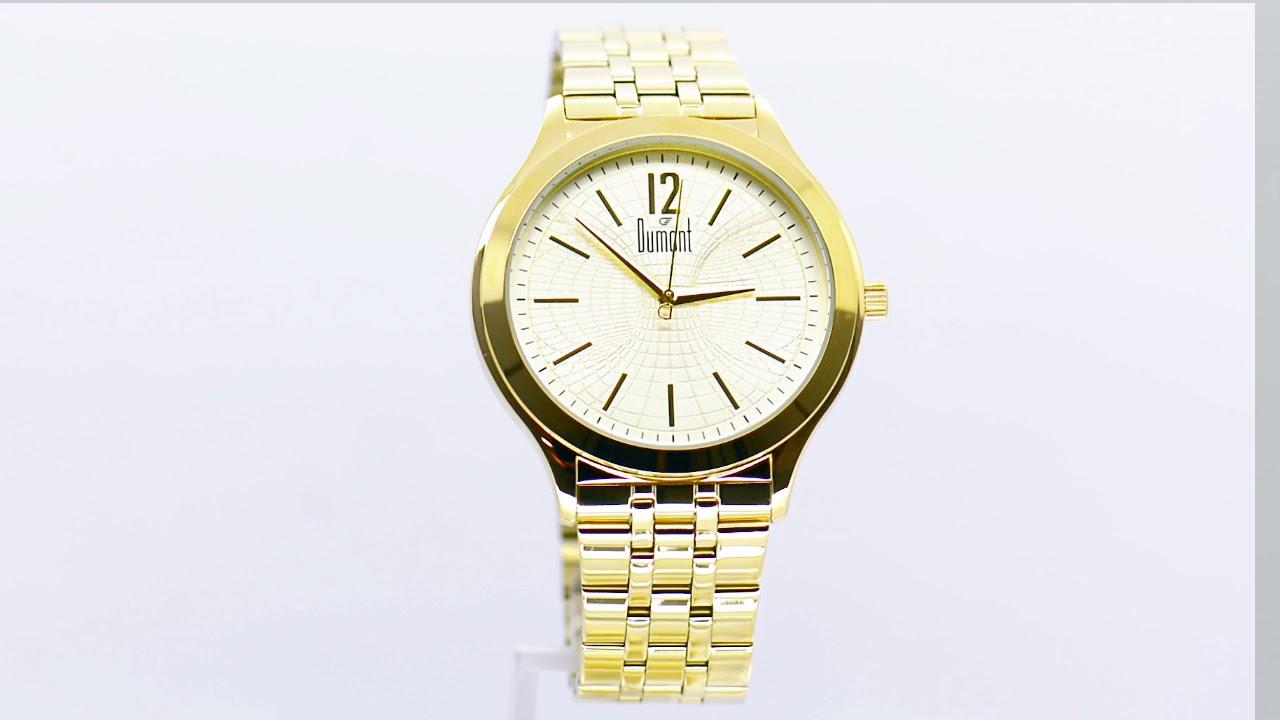 Relógio Dumont Masculino Slim DUGL30AK 4D - Eclock - YouTube c94542725d
