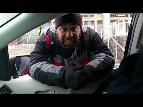 Homeless man rapping