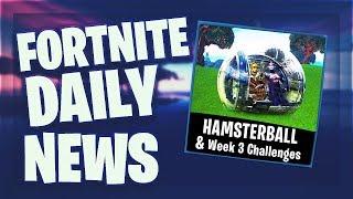 Fortnite Daily News 'OMG' HAMSTERBALL - G-NSTIGE V-BUCKS (09 mars 2019)