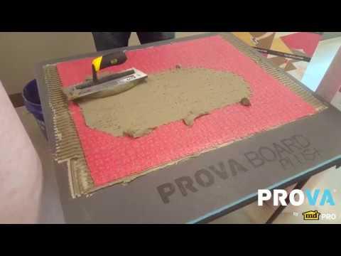 Prova Flex Tile Stone Underlayment Membrane Youtube