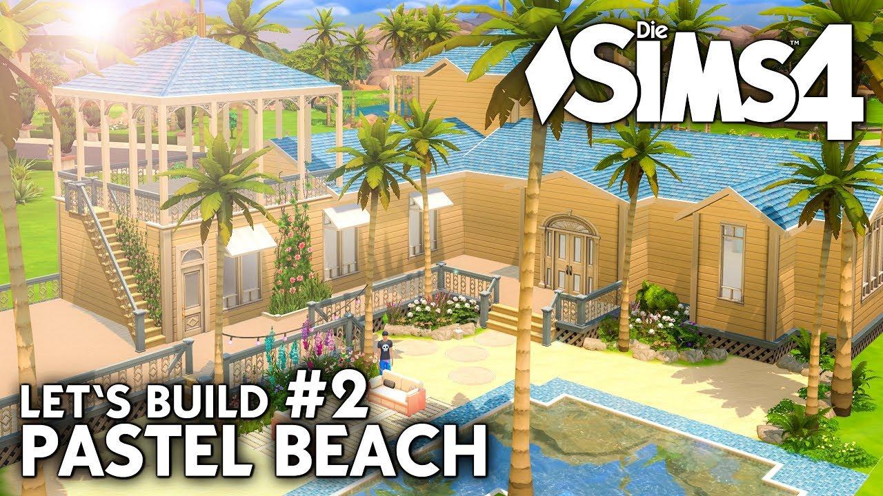 Die Sims 4 Haus Bauen Pastel Beach 2 Strandhaus Dachterrasse