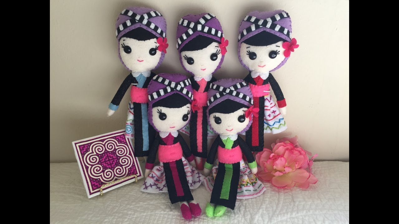 Hmong Doll available at LoveColorfulCreation Etsy Com