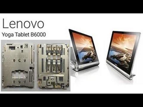 Lenovo Yoga Tablet - Разбор, замена разъёма Sim карты