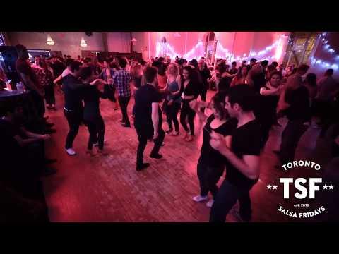 Fun dancing at Toronto Salsa Fridays