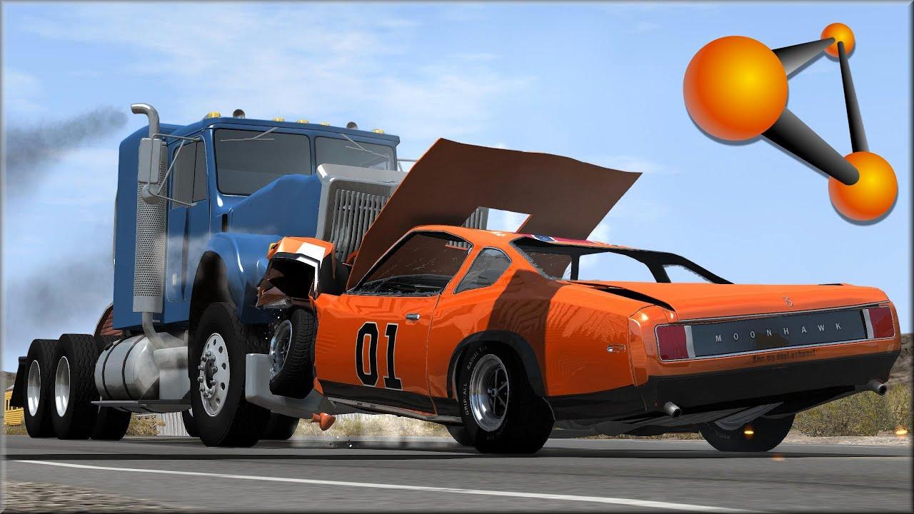 Drive Now Trucks >> BeamNG Drive Trucks Vs Cars #6 - Insanegaz - YouTube