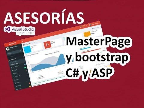 MasterPage De Visual Estudio Asp.net Y C# - Template Web AdminLTE Y Bootstrap