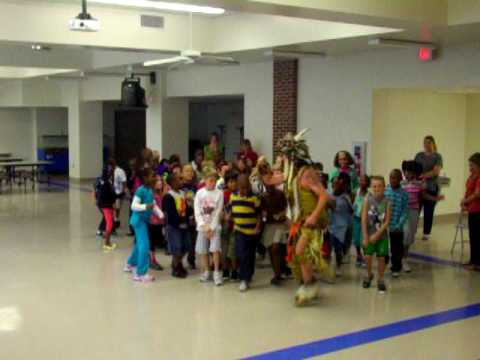 Ed Winddancer performing for Allen Park Elementary School