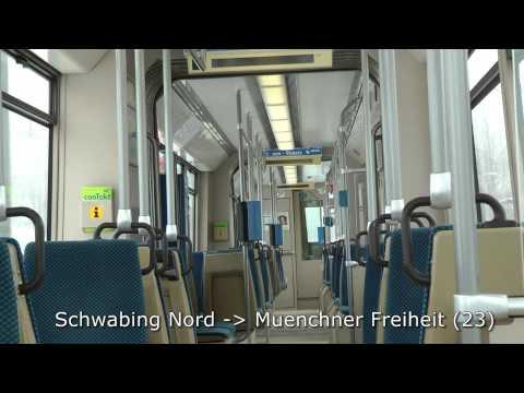 Trams and U-bahn in Munich