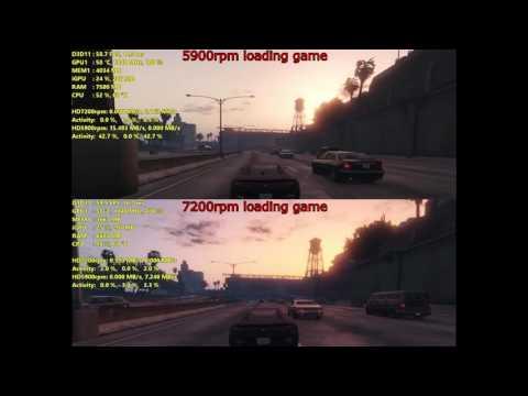 Seagate 500GB 7200rpm vs 4TB 5900rpm (Gaming Performance)