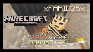 minecraft xbox one jugando con farid buscando minerales 1