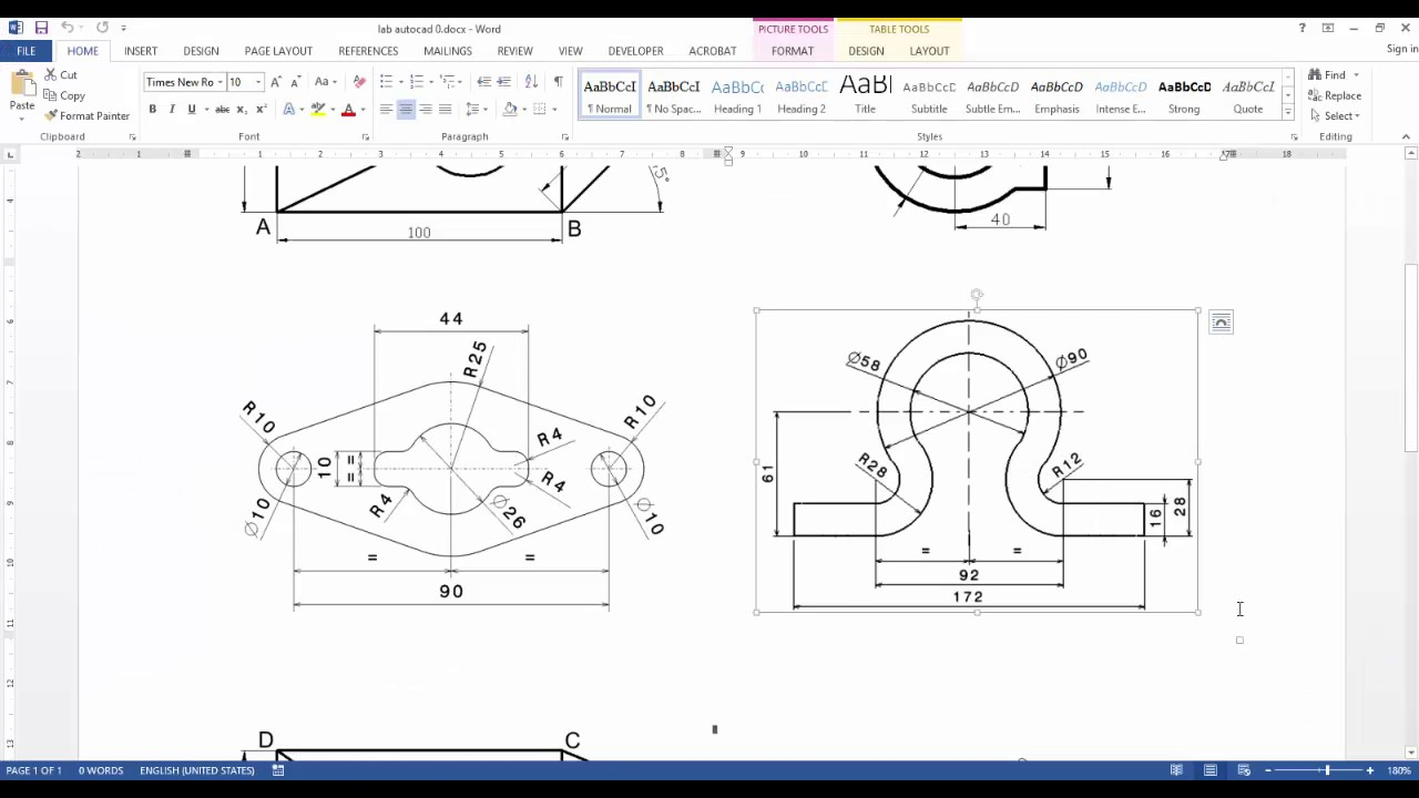 Drawing simple 2d profiles in autocad 2011 part 1 youtube Simple 2d cad