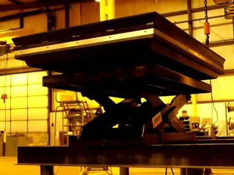 Hydraulic Scissor Lift Table With 360 Degree Turn Table