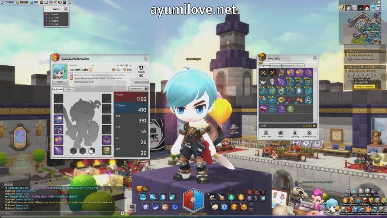 Ayumilove MapleStory2 Knight Level 50 Equip Store