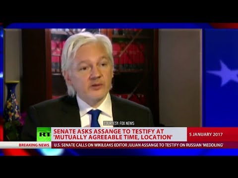 US Senate asks Julian Assange to testify on Russian interference in 2016